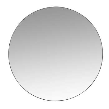 CLEMENT - Round Black Metal Mirror (Diameter 70cm)