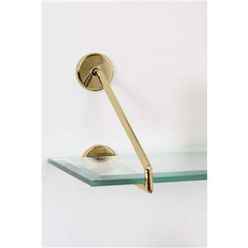 Cleo Shelf Brass (H20 x W100 x D21cm)