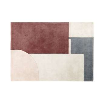 CLEO Tufted Rug with Multicoloured Graphic Print (H140 x W200 x D2cm)