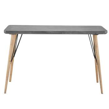 Cleveland Wooden console table in grey (76 x 120cm)