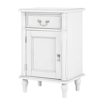 Clifton Cotton White Right Hand Bedside Cabinet (68 x 45cm)