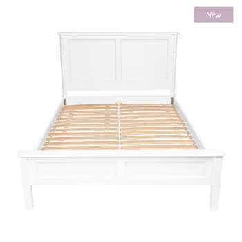 Clifton Cotton White Super King Bed (115 x 197 x 213cm)
