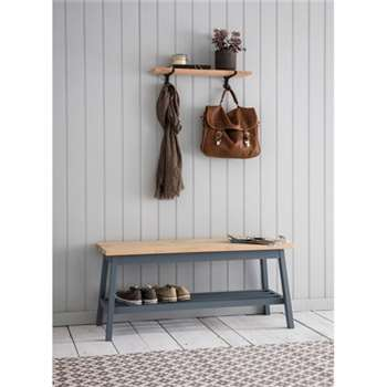 Clockhouse Hallway Bench in Charcoal - Beech (45 x 100cm)