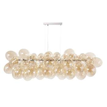 CLOUD Metal Ceiling Light with Glass Globes (44 x 133cm)