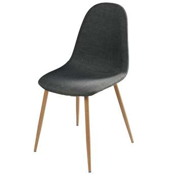 CLYDE Anthracite Scandinavian Chair with Metal (H86 x W44 x D55cm)