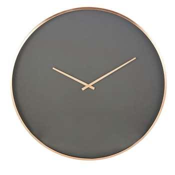 CLYDE - Black Clock with Copper Metal (Diameter 76cm)