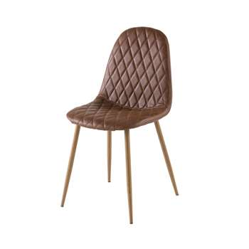 CLYDE Camel Scandinavian-Style Tufted Chair (H86 x W44 x D55cm)