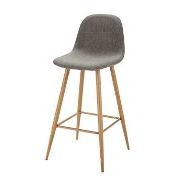 CLYDE Grey Fabric Bar Chair (101 x 44cm)