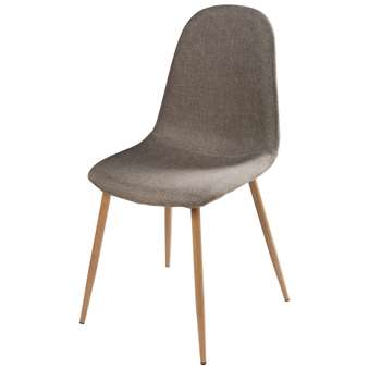 CLYDE Grey Fabric Metal Chair (87 x 44cm)