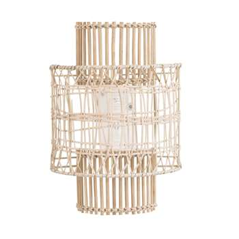 COACHELLA Metal and Rattan Wall Lamp (H34 x W25 x D12cm)