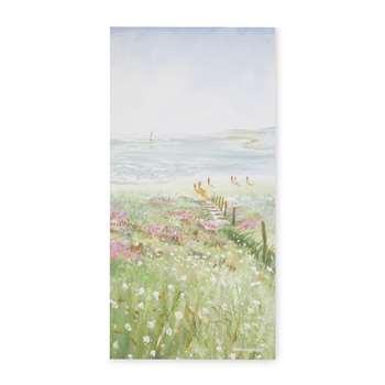 Coastal Daisies Canvas (H65 x W33cm)