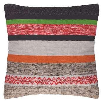 Coates multi-coloured hand woven cushion 60 x 60cm