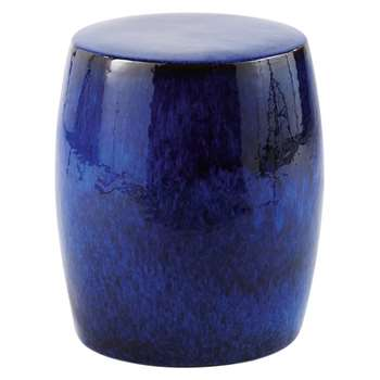 COBALT Blue Glazed Ceramic Stool (37.5 x 32cm)