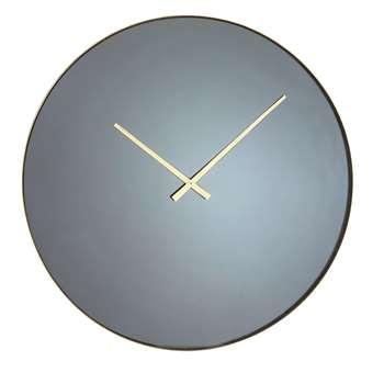 CODY - Gold Metal Smoked Mirror Clock (H70.5 x W70.5 x D5cm)