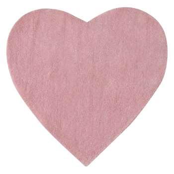 CŒUR pink short pile rug (70 x 70cm)