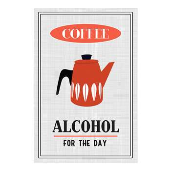 Coffee, Alcohol For The Day Print (H29.7 x W21cm)