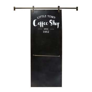 COFFEE SHOP - Sliding Blackboard with 6 Magnets (H210 x W168 x D14cm)