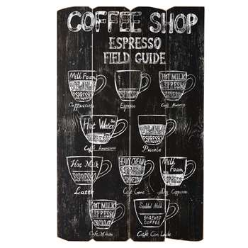 COFFEE STORE - Printed Wall Art (H95.5 x W59 x D3cm)
