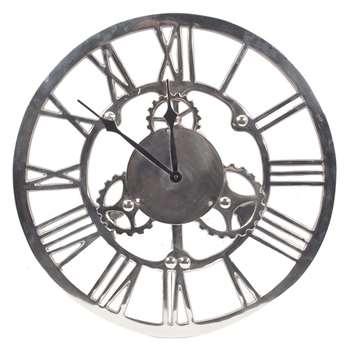 Cog Round Wall Clock (Diameter 46cm)