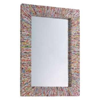 Habitat Cohen Recycled Magazine Rectangular Wall Mirror (H100 x W70 x D5cm)