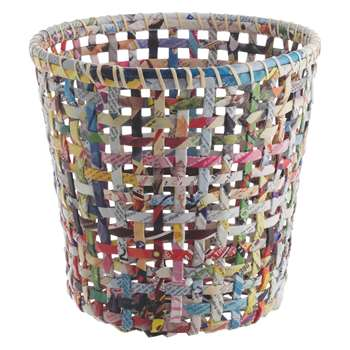 Habitat Cohen Multi-Coloured Recycled Magazine Waste Paper Bin (H25 x W25 x D25cm)