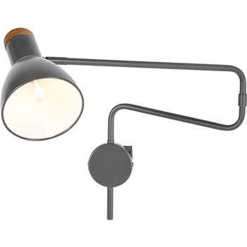 Cohen Swing Arm Wall Lamp, Charcoal (125 x 154cm)
