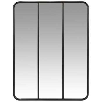 COLBY - Black Metal Mirror (H81 x W60 x D2cm)