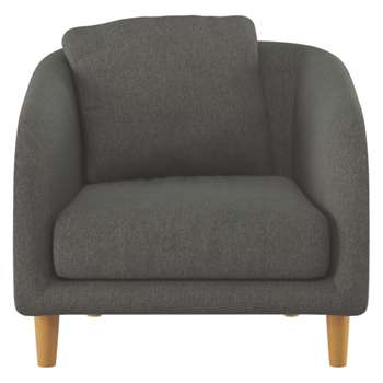 Colby Charcoal fabric armchair