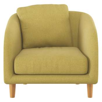 Colby Saffron yellow fabric armchair
