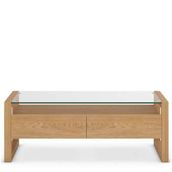 Colby Storage Coffee Table, Oak (H40 x W110 x D60cm)