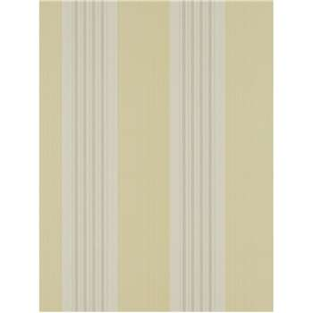 Colefax & Fowler Tealby Stripe Wallpaper - Yellow / Grey, 07991/03
