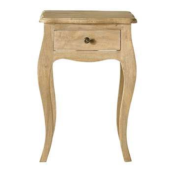COLETTE Mango wood bedside table with drawer (58 x 42cm)