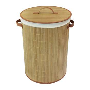 Collapsable Bamboo Laundry Basket 50 x 35cm