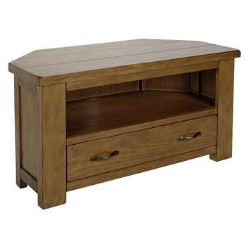 Collection Arizona Corner TV Unit - Solid Pine