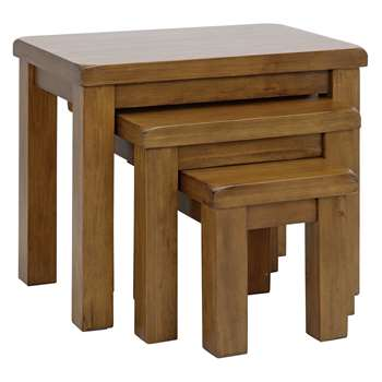 Collection Arizona Nest of 3 Tables - Solid Pine (Width 99cm)