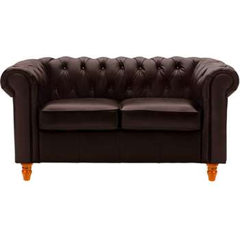 Collection Chesterfield Regular Leather Sofa - Brown