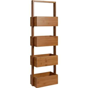 Collection Freestanding Bamboo Bathroom Storage Caddy (88 x 28cm)