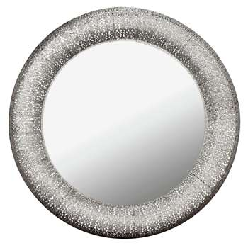 Collection Marrakesh Round Metal Mirror (Diameter 78cm)