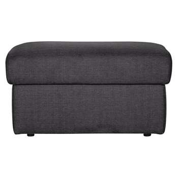 Collection Milano Fabric Footstool - Charcoal