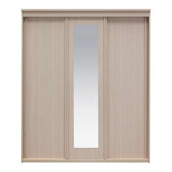 Collection New Hallingford 3 Dr Sliding Wardrobe -Light Oak 206 x 175cm