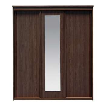 Collection New Hallingford 3Dr Sliding Wardrobe-Wenge Effect