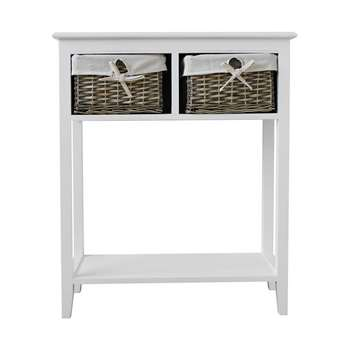Argos Home New Malvern Console Table - White (H76 x W63 x D26.5cm)