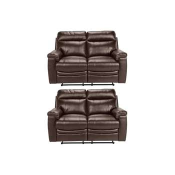 Collection New Paolo 2 Regular Manual Recliner Sofas - Choc