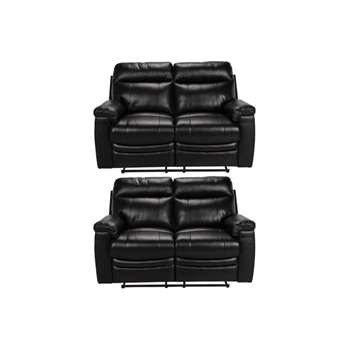 Collection New Paolo Regular and Regular Recliner Sofa - Blk