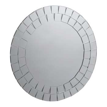 Collection Round Mosaic Bathroom Mirror (40 x 40cm)