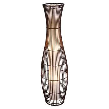 Argos Home Sirit Rattan Floor Lamp - Dark Brown (H110 x W28 x D28cm)
