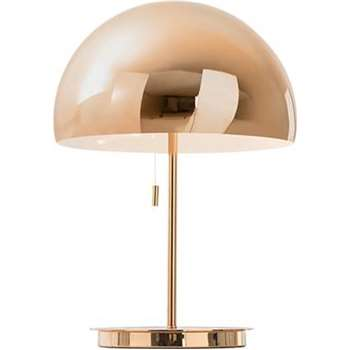 Collet Table Lamp, Champagne Copper (H41 x W30 x D30cm)