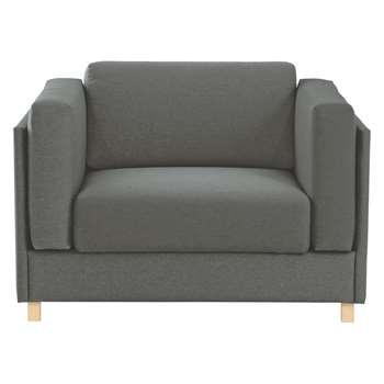 Colombo Charcoal  Fabric Armchair - 76 x 113cm