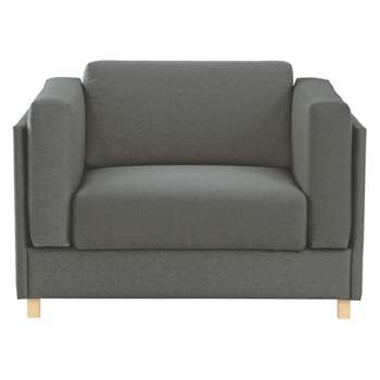 Colombo Charcoal  fabric armchair sofa bed