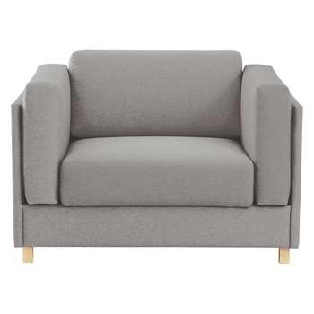 Colombo Grey Fabric Armchair - 76 x 113cm